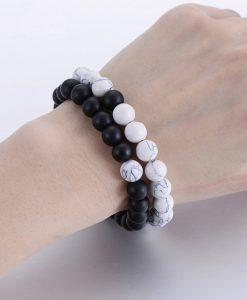 Bracelet yin yang blanc et noir