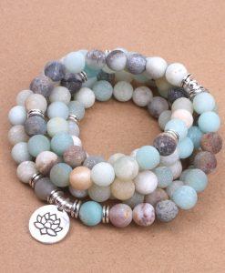 bracelet lotus en amazonite 2