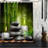 Rideau de douche vert zen – 3