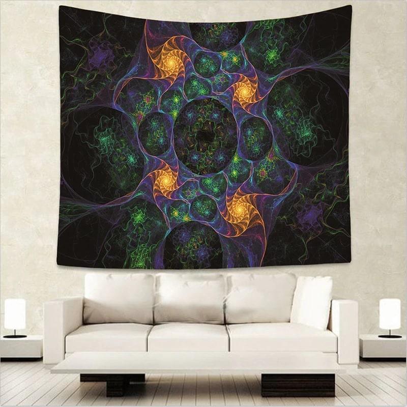 tenture psych d lique murale univers zen. Black Bedroom Furniture Sets. Home Design Ideas