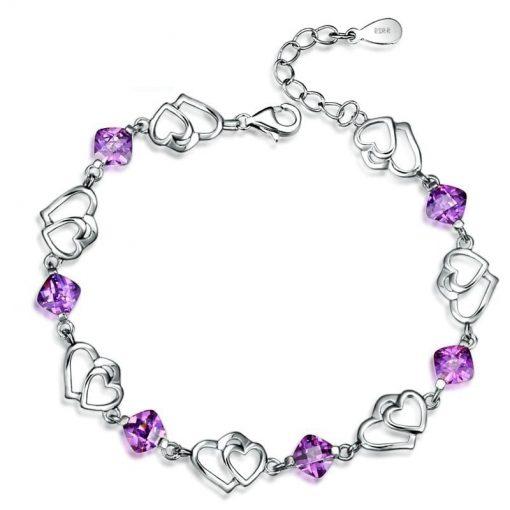 bracelet-en-amethyste-pour-femme-avec-coeur