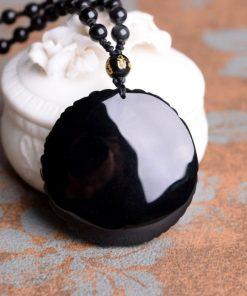 collier-dragon-et-phoenix-en-obsidienne-avec-ying-yang-vue-de-dos