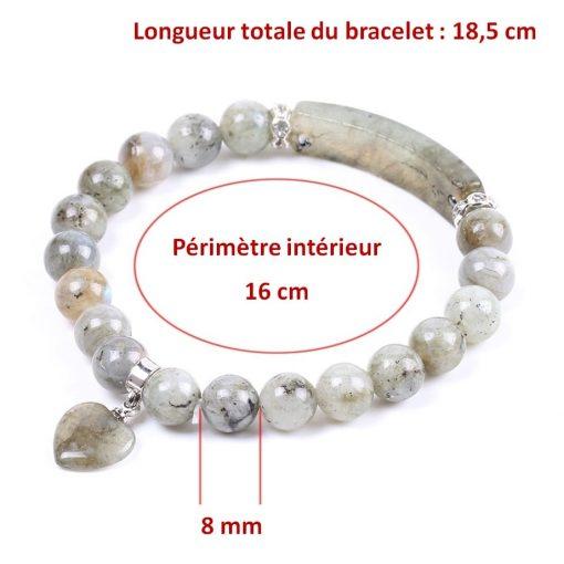 dimensions-du-bracelet-en-labradorite-blanche-pour femme
