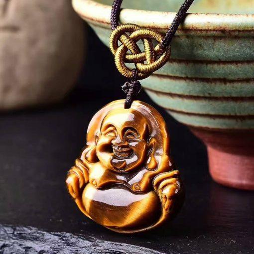 pendentif-en-oeil-de-tigre-avec-bouddha-zoom-sur-le-collier