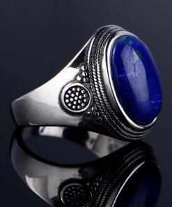 Bague avec lapis lazuli en argent 925