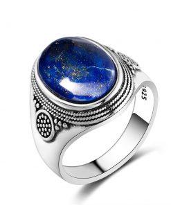 Bague en lapis lazuli en argent 925