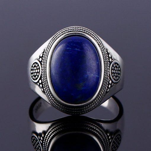 Bague lapis lazuli en argent 925