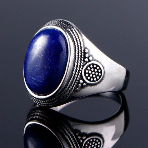 Bague lapis lazuli en argent 925 féminine