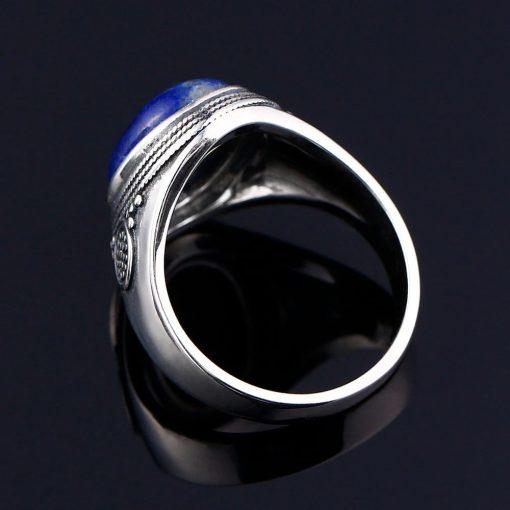 Bague lapis lazuli en argent 925 millième