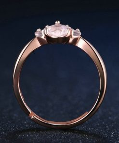 bague-patte-quartz-rose-vue-de-face