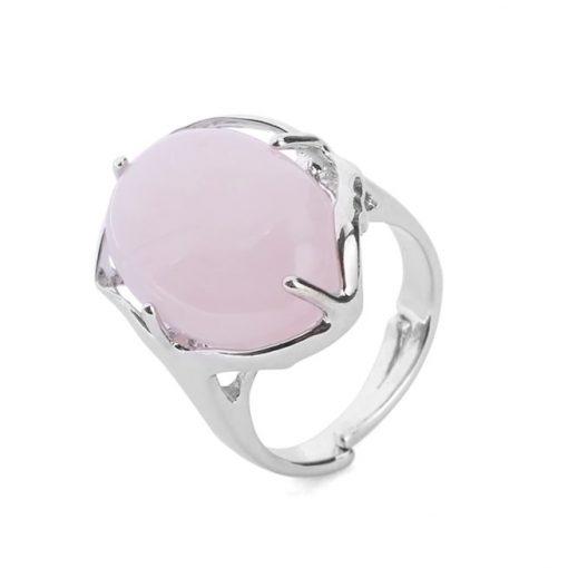 bague-quartz-rose-ajustable