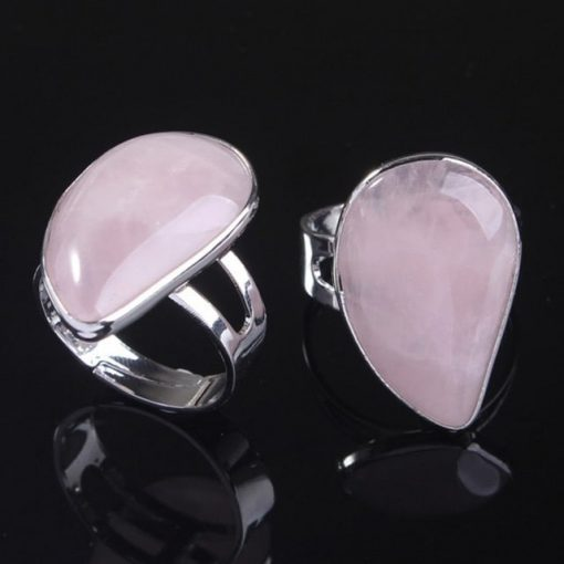 bague-quartz-rose-goutte-ajustable