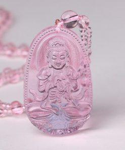 collier-avec-pendentif-de-bouddha-en-quartz-rose
