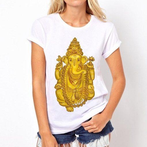 t-shirt-ganesh-femme-jaune