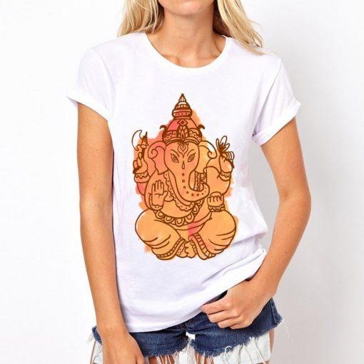 t-shirt-ganesh-femme-orange