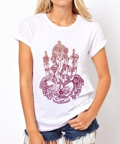 t-shirt-ganesh-femme-version-rose-orange